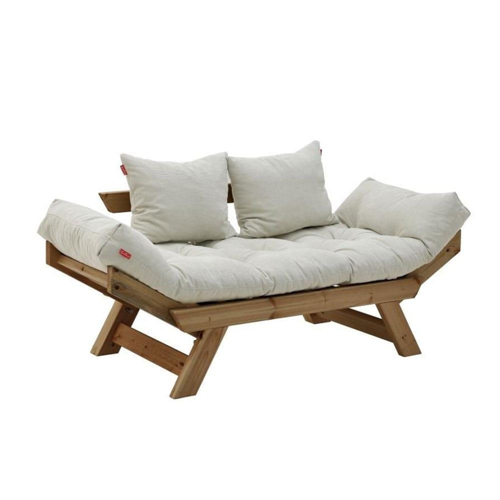 Καναπές Διθέσιος Με Μαξιλαρια 6-50-881-0004 Bronw-Cream 160Χ80Χ70/50 Click