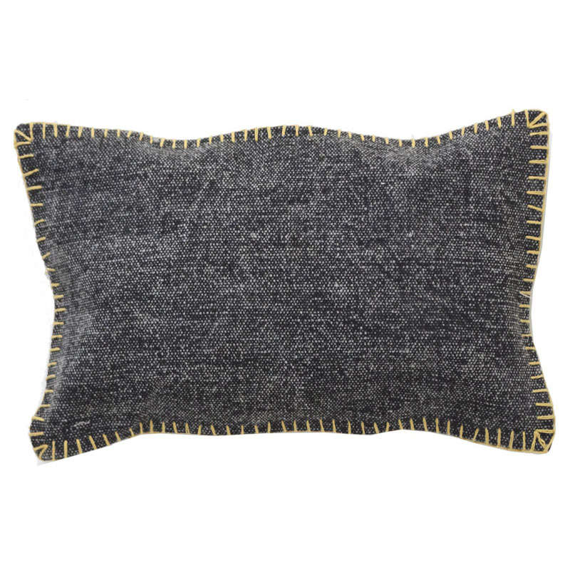 Μαξιλαροθήκη Διακοσμητική Lotus Cot 0610002 Black Soulworks 30Χ50 100% Βαμβάκι
