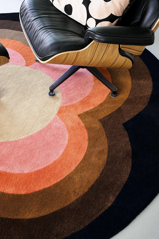 Χαλί Sunflower 060005 Pink Round Orla Kiely 200X250