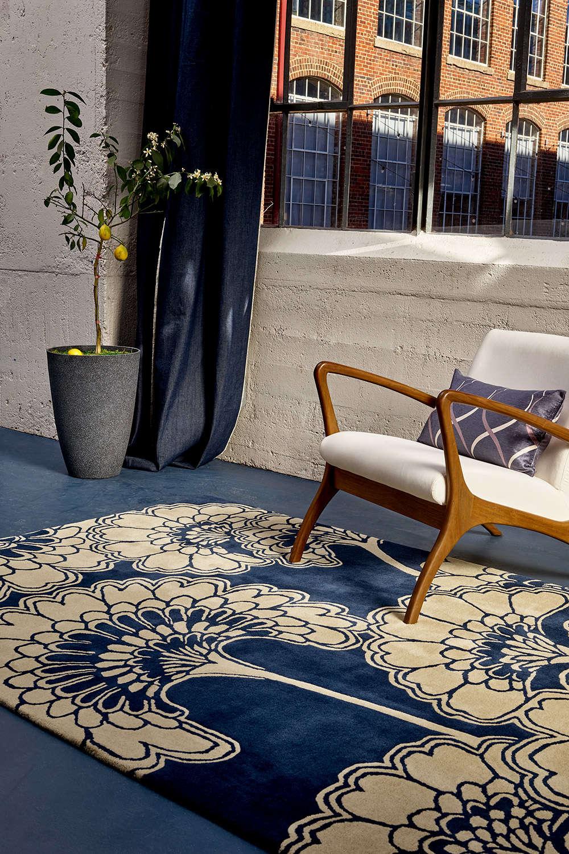 Χαλί Japanese Floral Midnight 039708 Florence Broadhurst 140X200