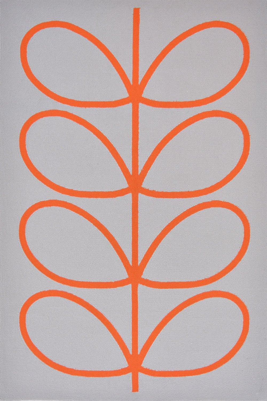 Χαλί Giant Linear Stem 460703 White-Orange Orla Kiely 140X200