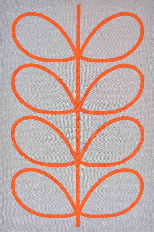 Χαλί Giant Linear Stem 460703 White-Orange Orla Kiely 160X230