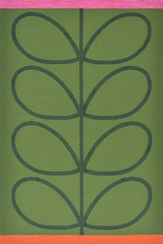Χαλί Giant Linear Stem 460607 Green Orla Kiely 140X200