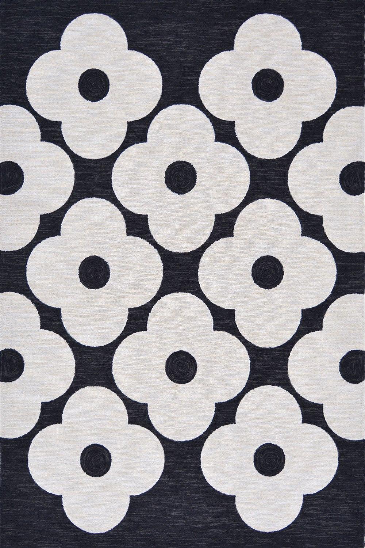 Χαλί Spot Flower 460805 Black-White Orla Kiely 140X200