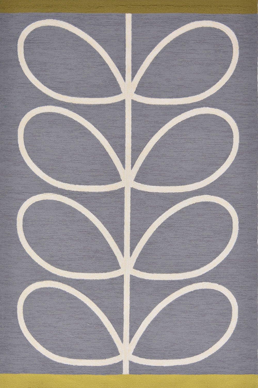 Χαλί Giant Linear Stem 460605 Grey-White Orla Kiely 140X200