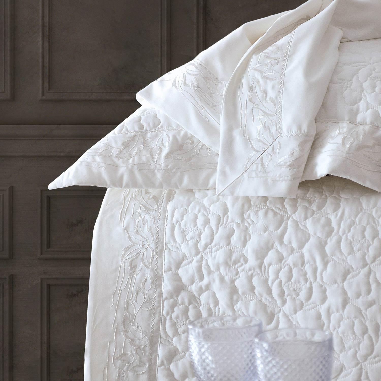 Κουβερλί Σετ Erato White Ρυθμός 7τμχ Υπέρδιπλo 235x250cm