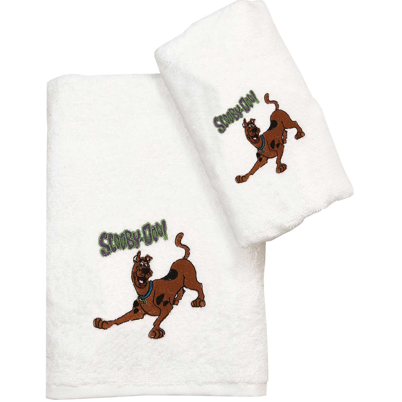 Πετσέτα Παιδική Σετ 2τμχ. Scooby Doo 20 White Viopros Σετ Πετσέτες 70x130cm