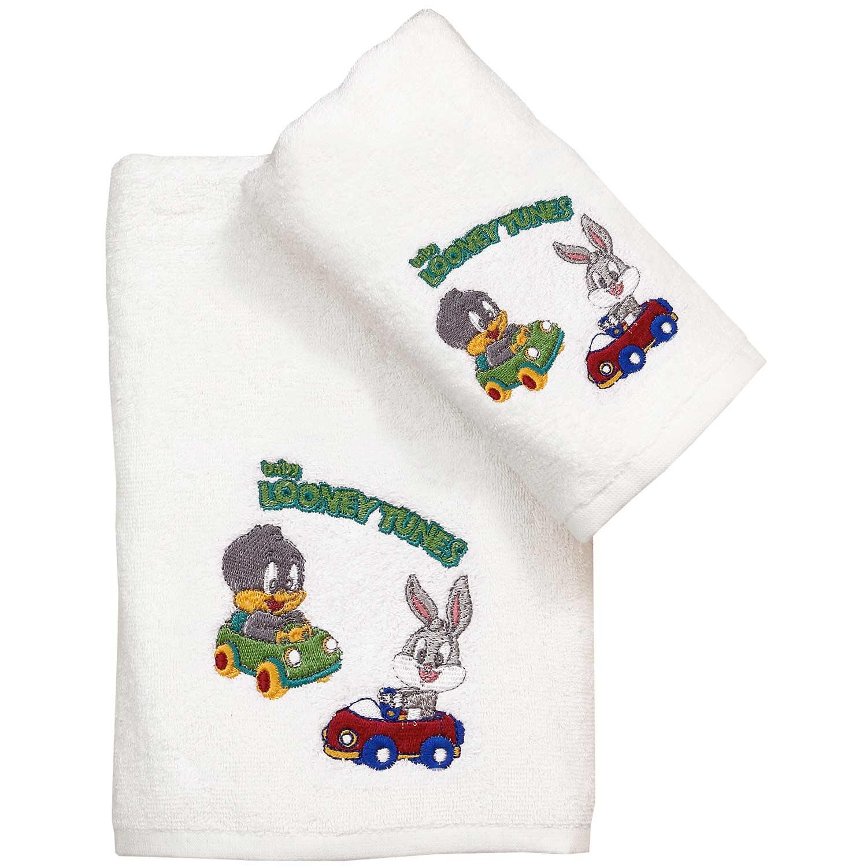 Πετσέτα Παιδική Baby Looney Tunes 20 White Viopros Προσώπου 50x80cm