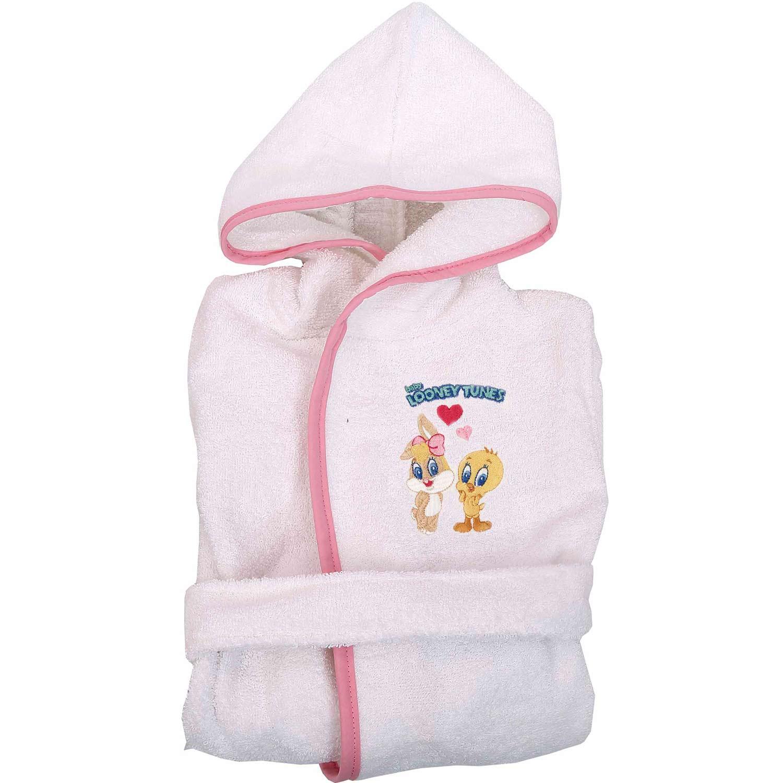 Μπουρνούζι Παιδικό Baby Looney Tunes 22 White-Pink Viopros 2-4 ετών No 4