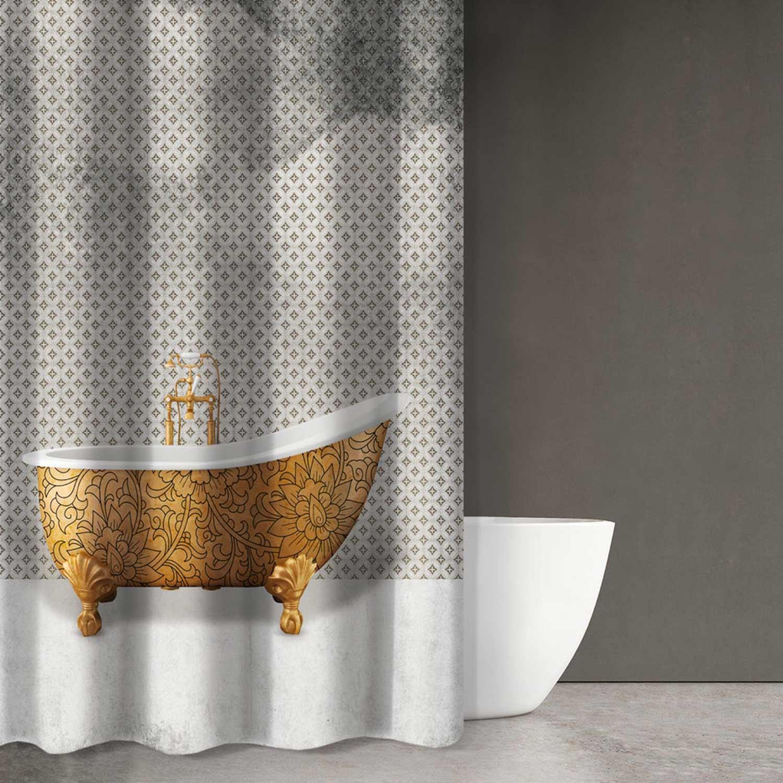 Κουρτίνα Μπάνιου Abstract Des 105 Multi Saint Clair 180x200cm Φάρδος 180cm 180x200cm
