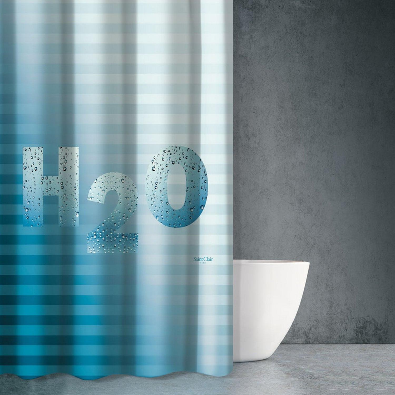 Κουρτίνα Μπάνιου Sea Water Des 603 Multi Saint Clair 180x200cm Φάρδος 180cm 180x200cm