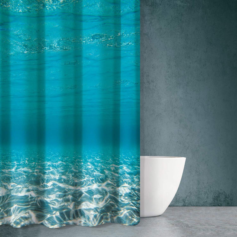 Κουρτίνα Μπάνιου Sea Water Des 614 Multi Saint Clair 180x200cm Φάρδος 180cm 180x200cm