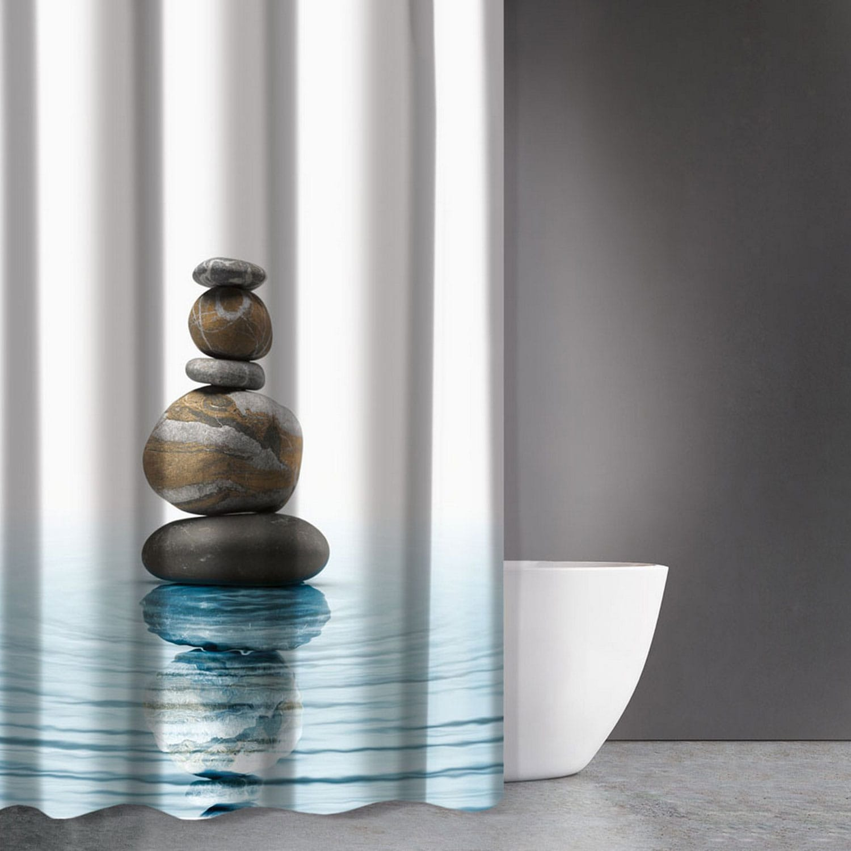 Κουρτίνα Μπάνιου Zen Body Des 802 Multi Saint Clair 180x200cm Φάρδος 180cm 180x200cm