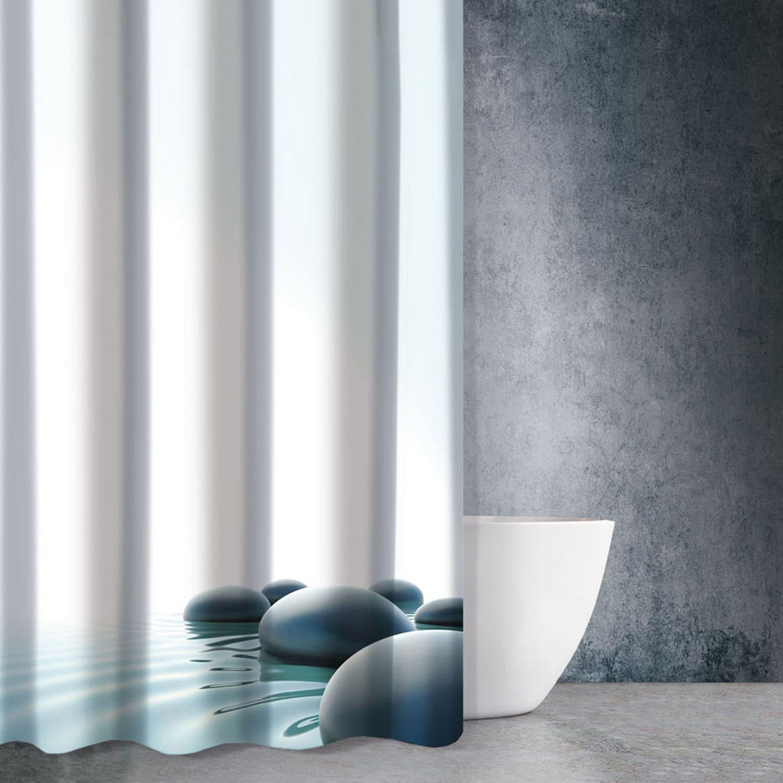 Κουρτίνα Μπάνιου Zen Body Des 809 Multi Saint Clair 180x200cm Φάρδος 180cm 180x200cm