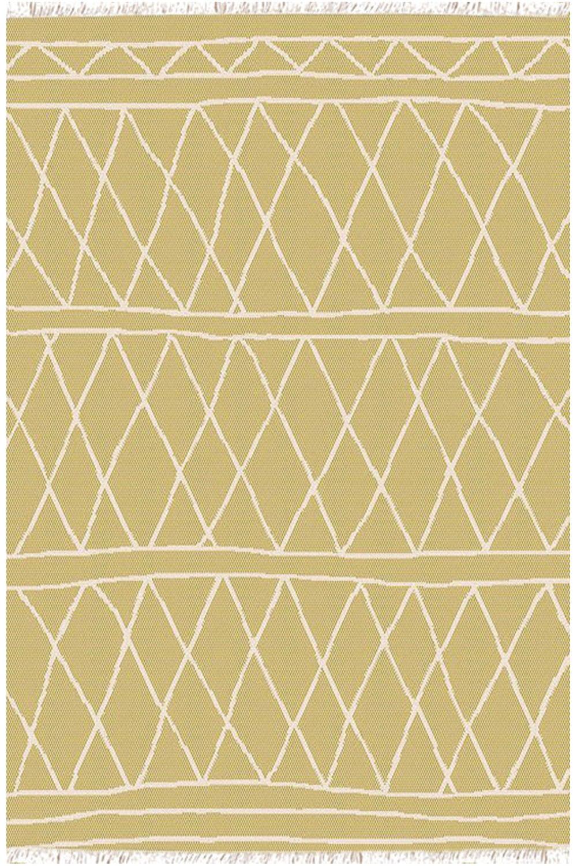 Χαλι Kasbah 22074/616 – Yellow-White New Plan 70X220