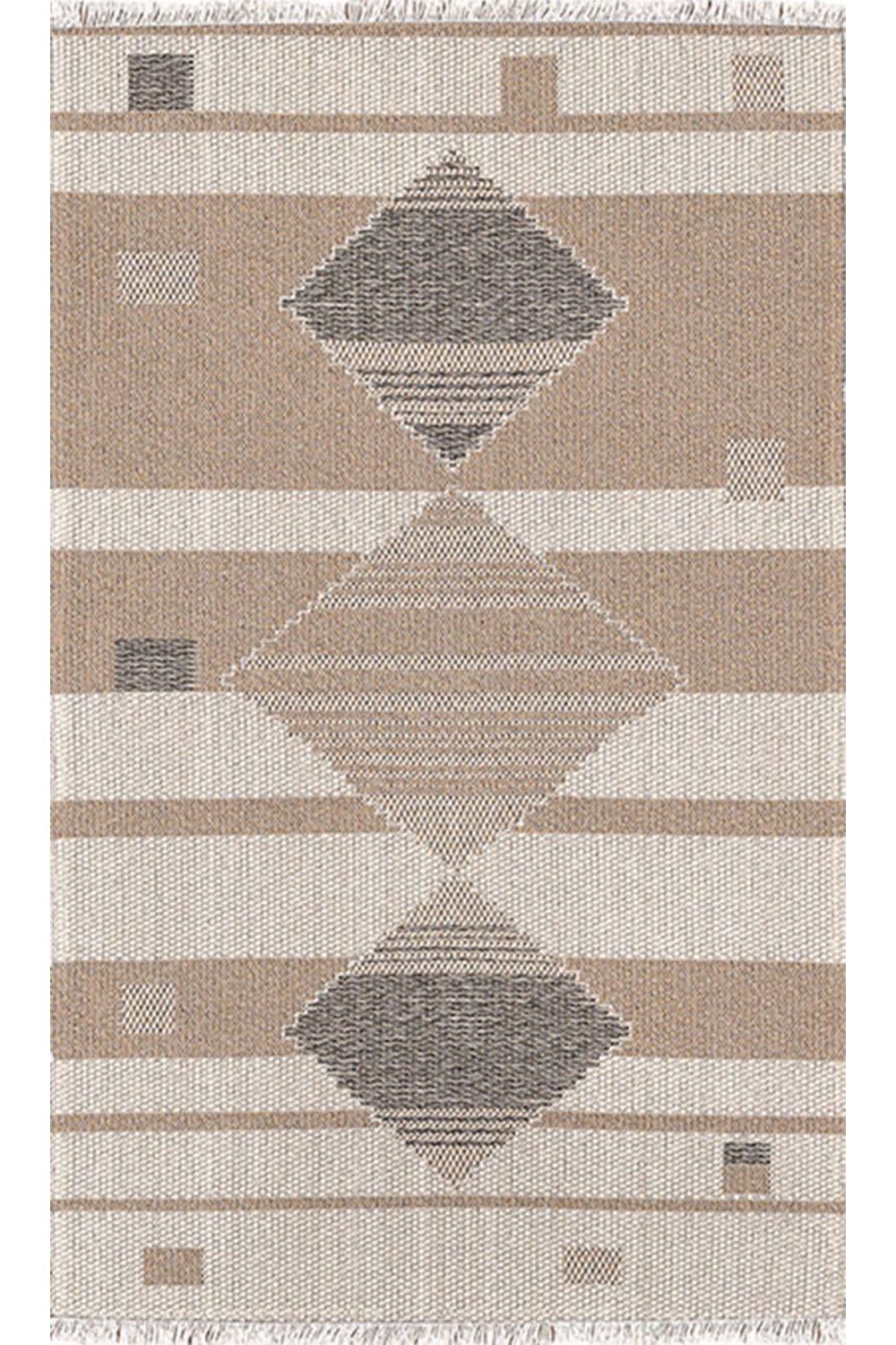 Χαλι Kasbah 2813/605 – Beige-Black New Plan 70X220