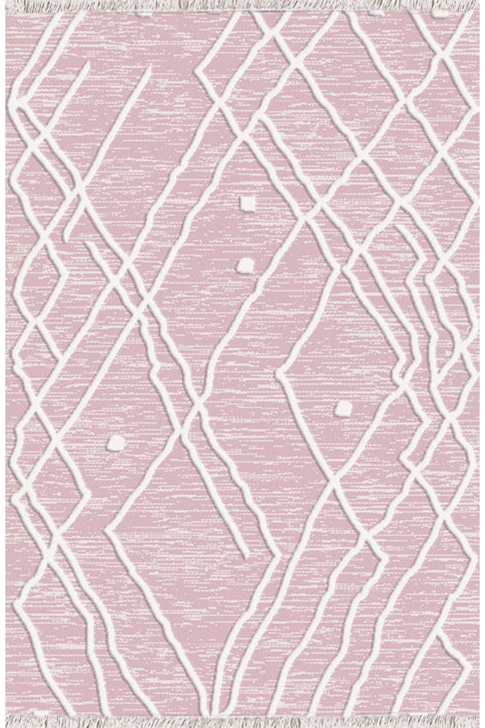 Χαλι Nomad 22320/17 – Pink-White New Plan 140X200