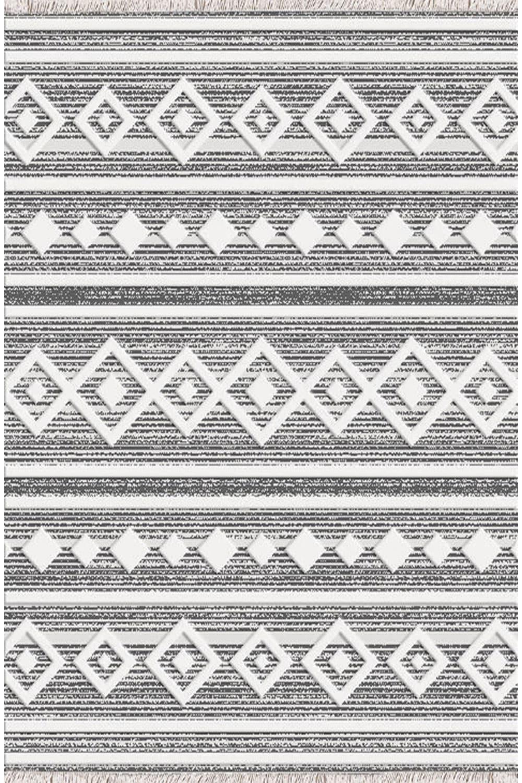 Χαλι Nomad 22322/02 – Grey-White New Plan 200X300