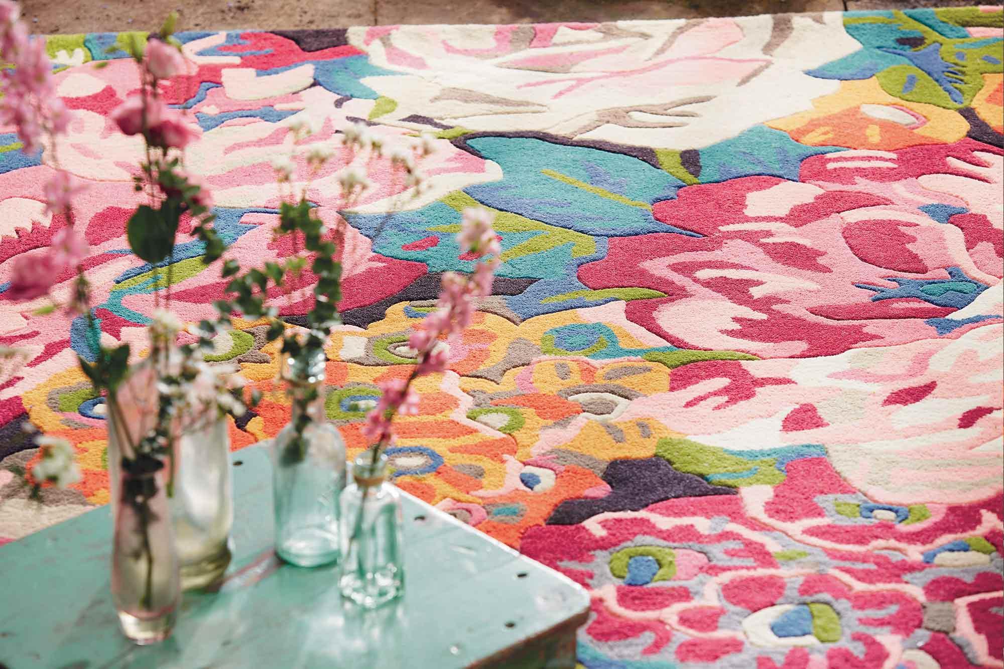 Χαλί Rose & Peony Pink-Multi 45005 Sanderson 160X230