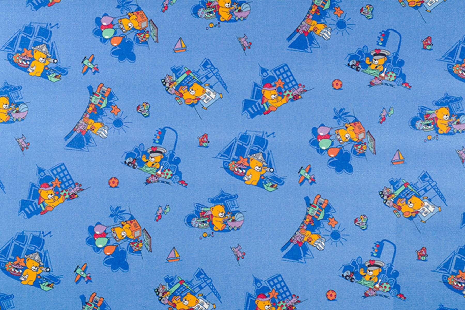 Μοκέτα Παιδική Funny Bear 77 Blue 200X…