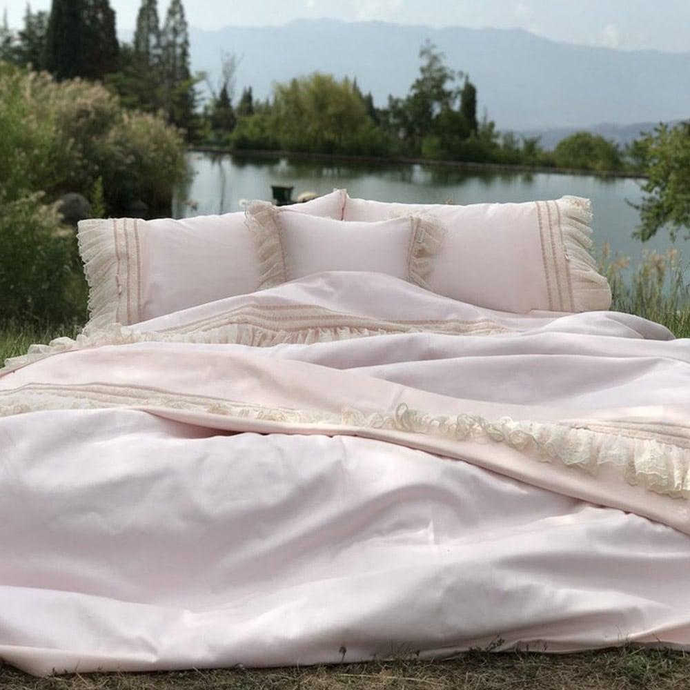 Σεντόνια Σετ 4Τμχ. Josephine Pink Margolia King Size 240x270cm