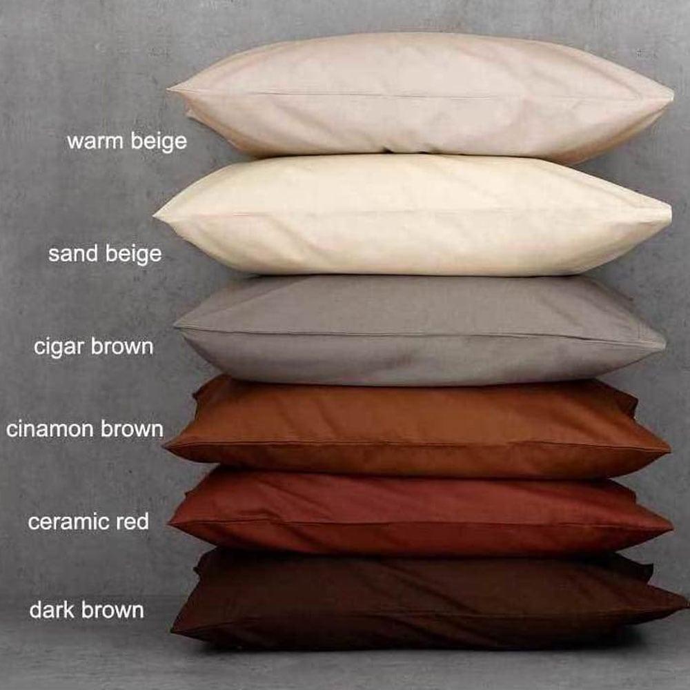 Σεντόνι Unicolor Cinnamon Brown Με Λάστιχο Nima Μονό 100x200cm