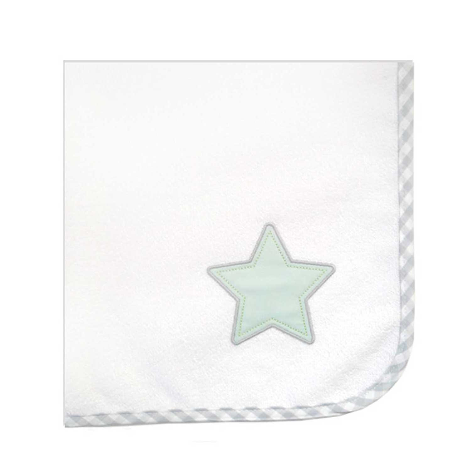 Σελτεδάκι Βρεφικό Des.304 Lucky Star White-Green Baby Oliver 50x70cm