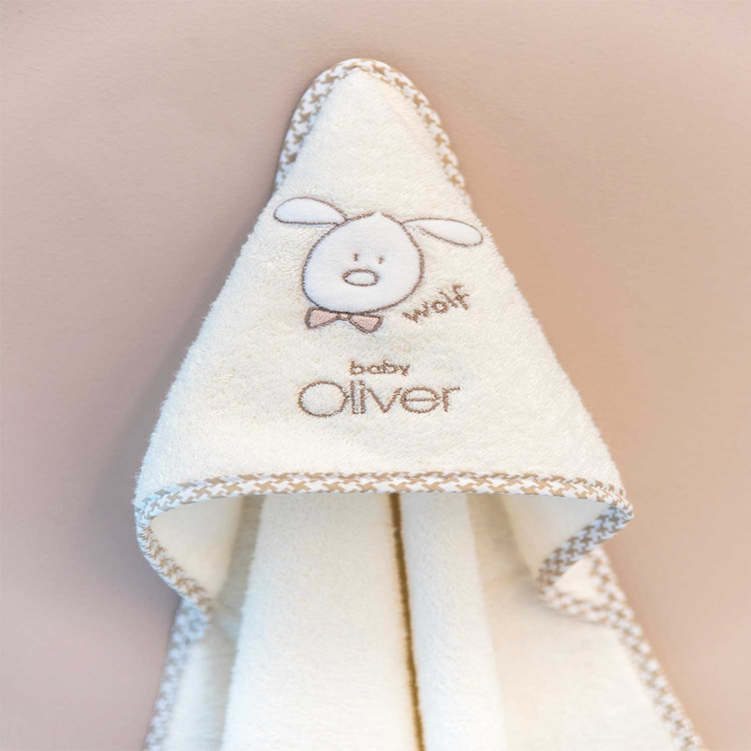 Κάπα Βρεφική Des.305 Mr. Wolf & Co. Beige Baby Oliver 0-2 ετών One Size