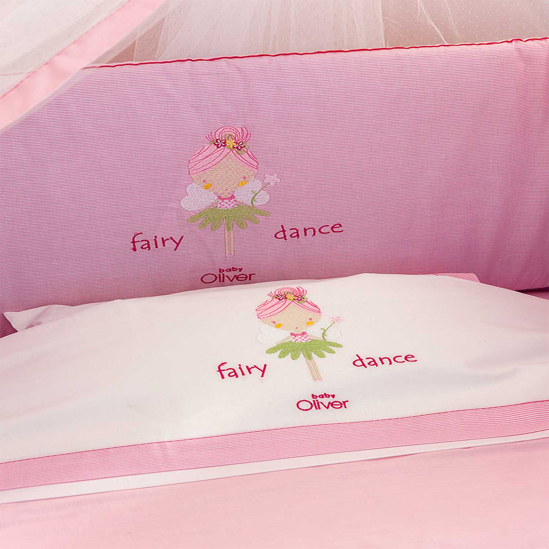 Σεντόνια Σετ Des.307 Fairy Dance Pink Baby Oliver Κούνιας 110x160cm