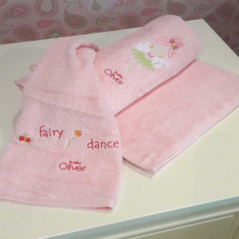 Βρεφικές Πετσέτες Σετ 2τεμ Des.307 Fairy Dance Pink Baby Oliver 2τεμ Σετ Πετσέτες