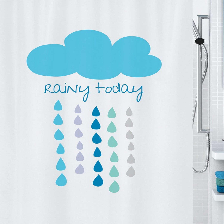 Κουρτίνα Μπάνιου Cloud 02020.001 Beige-Blue Spirella Φάρδος 180cm 180x200cm