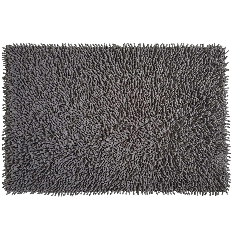 Πατάκι Μπάνιου Chenille Loop 05567.012 Anthracite Medium 50x80cm