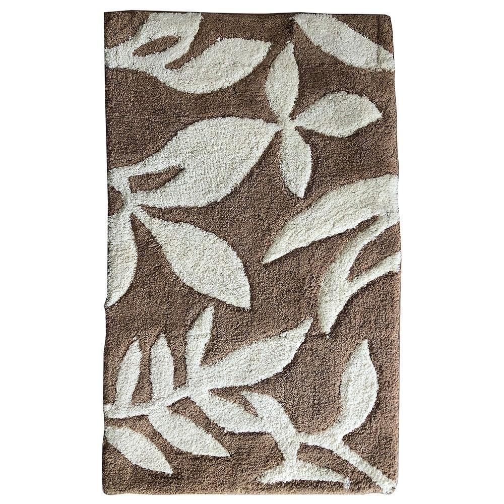 Πατάκι Μπάνιου Leaves 05591.002 Brown Medium 50x80cm