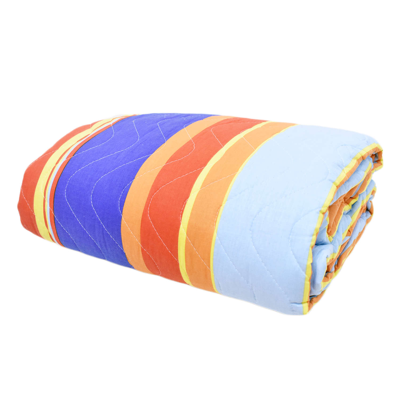Κουβερλί Stripes 32181 Blue-Multi Benetton Υπέρδιπλo 220x240cm