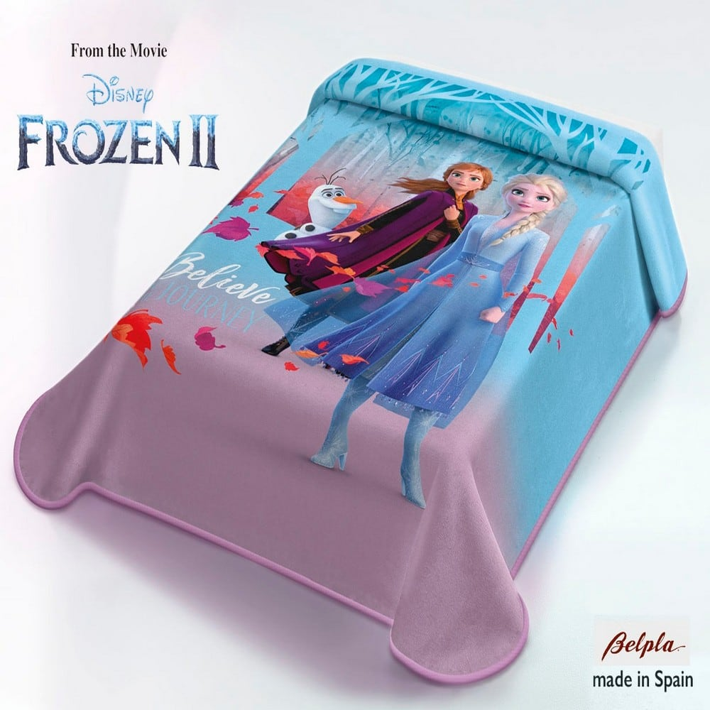 Κουβέρτα Παιδική Belpa Disney Frozen Blue-Purple Adam Home Μονό