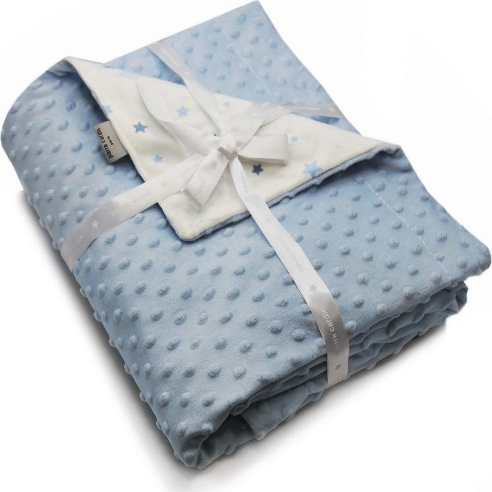 Κουβέρτα Βρεφική Ισπανίας Soft Plus Toppy Blue Pierre Cardin Αγκαλιάς 80x110cm