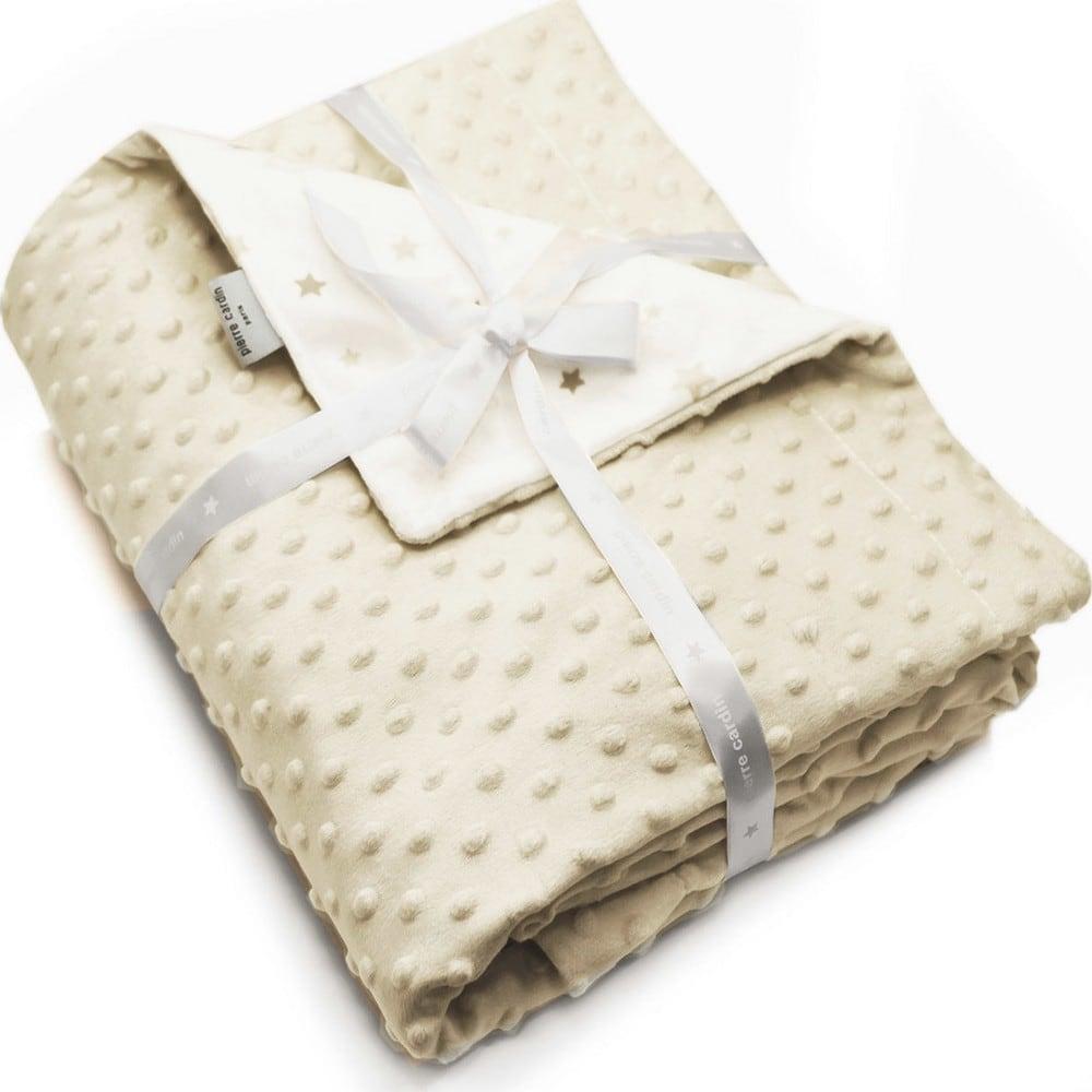 Κουβέρτα Βρεφική Ισπανίας Soft Plus Toppy Beige Pierre Cardin Αγκαλιάς 80x110cm