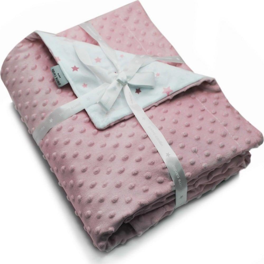Κουβέρτα Βρεφική Ισπανίας Soft Plus Toppy Pink Pierre Cardin Αγκαλιάς 80x110cm