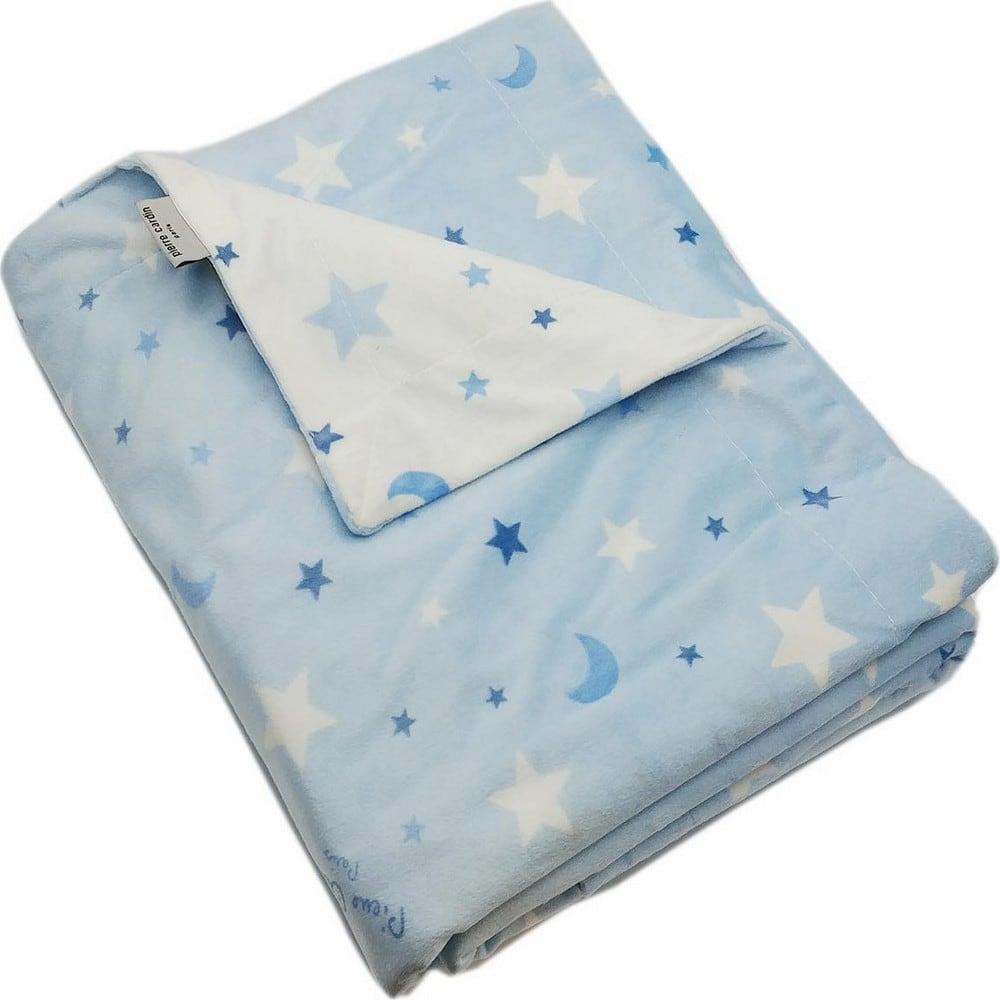 Κουβέρτα Βρεφική Ισπανίας Soft Plus Moon Blue Pierre Cardin Αγκαλιάς 80x110cm