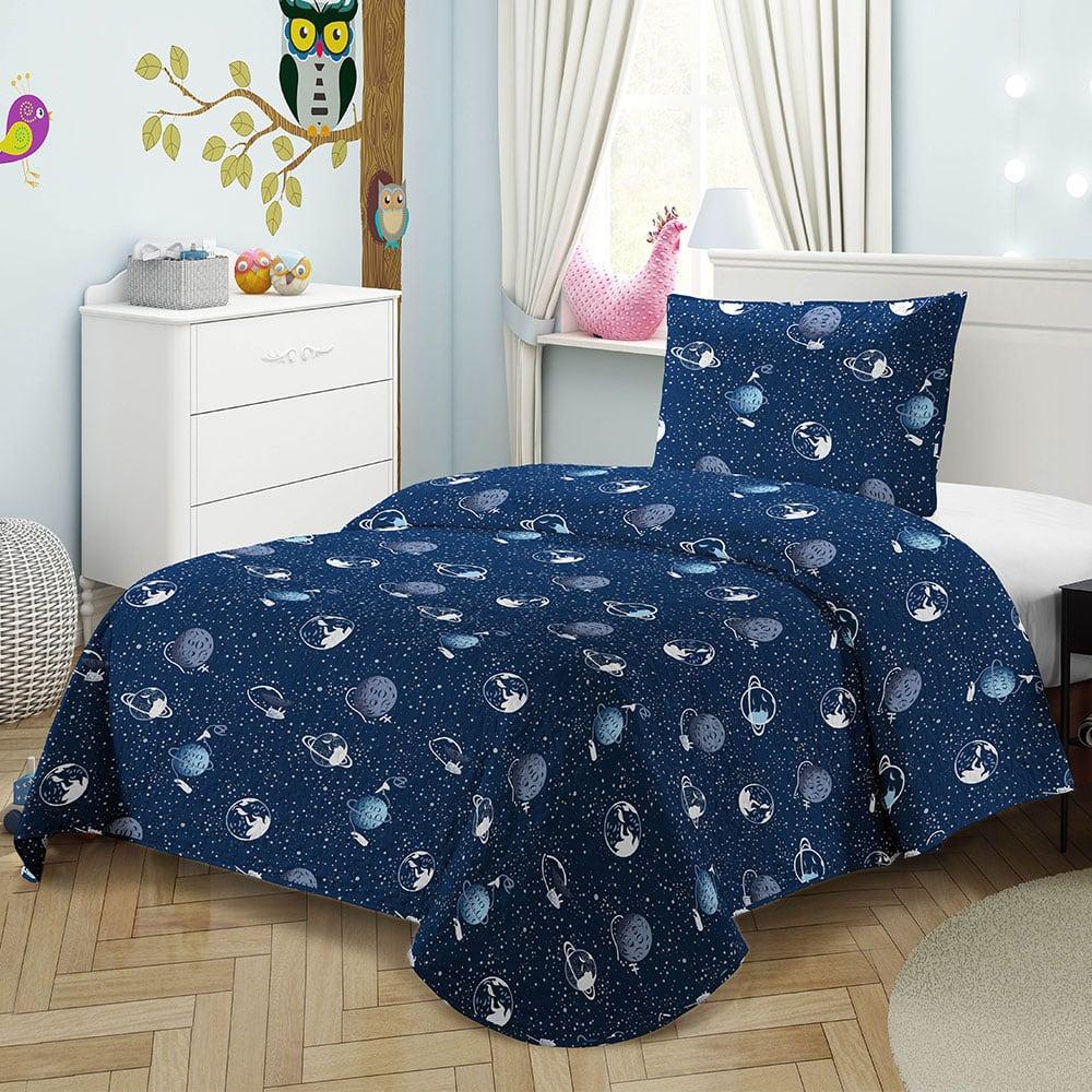 Κουβερλί Παιδικό Σετ 2τμχ 8030 Blue Adam Home Μονό