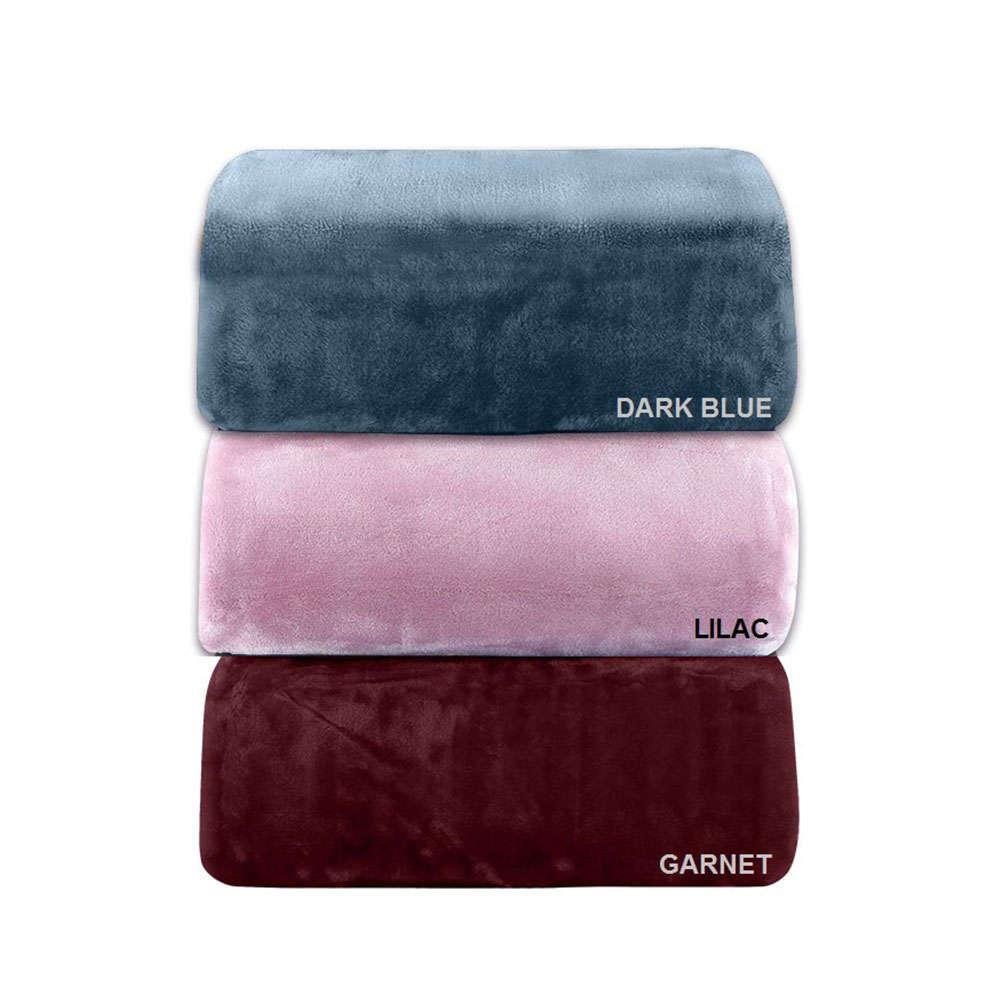 Κουβέρτα Βελουτέ Des. 802 Dark Blue Adam Home Μονό 160x220cm