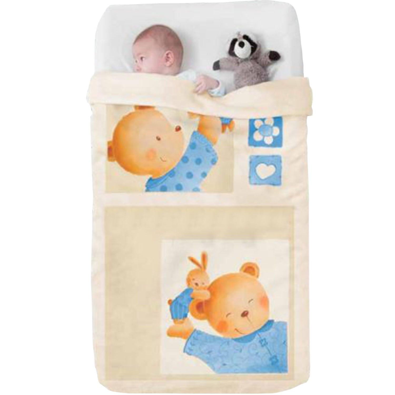 Κουβέρτα Βρεφική Baby Oceanis 326 c07 Beige- Brown Manterol Κούνιας 110x140cm