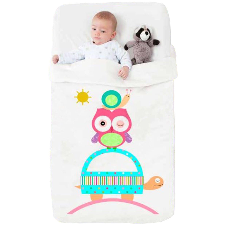 Κουβέρτα Βρεφική Baby Happy 711 White – Red Manterol Κούνιας 110x140cm