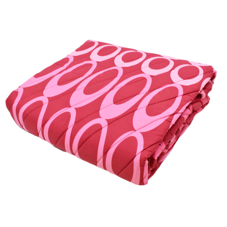 Κουβερλί Σετ 3τμχ. Arman 27 Pink-Red Kentia Υπέρδιπλo 220x240cm