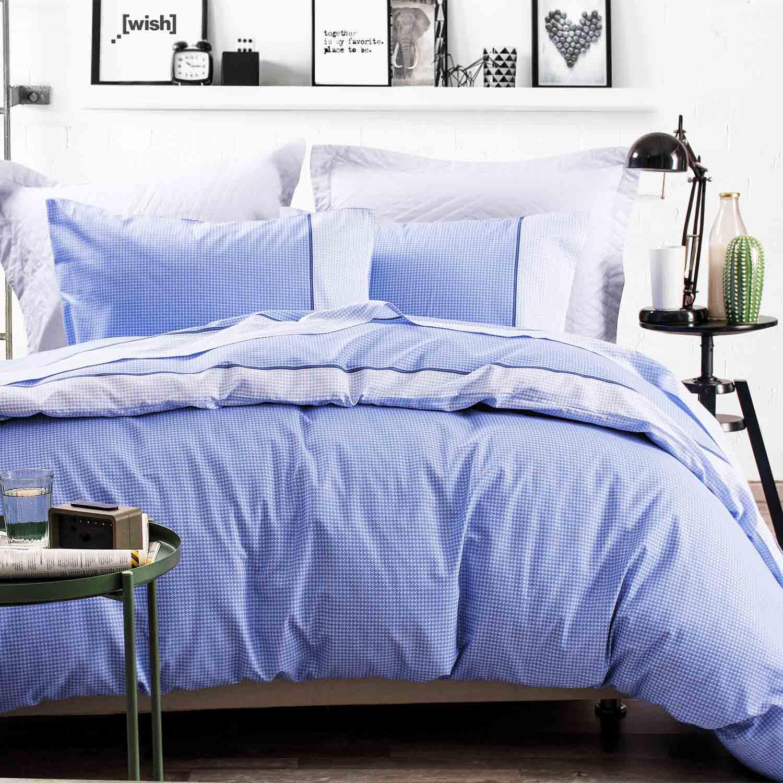 Σεντόνια Σετ Με Λάστιχο More Blue Ρυθμός Μονό 105x205cm