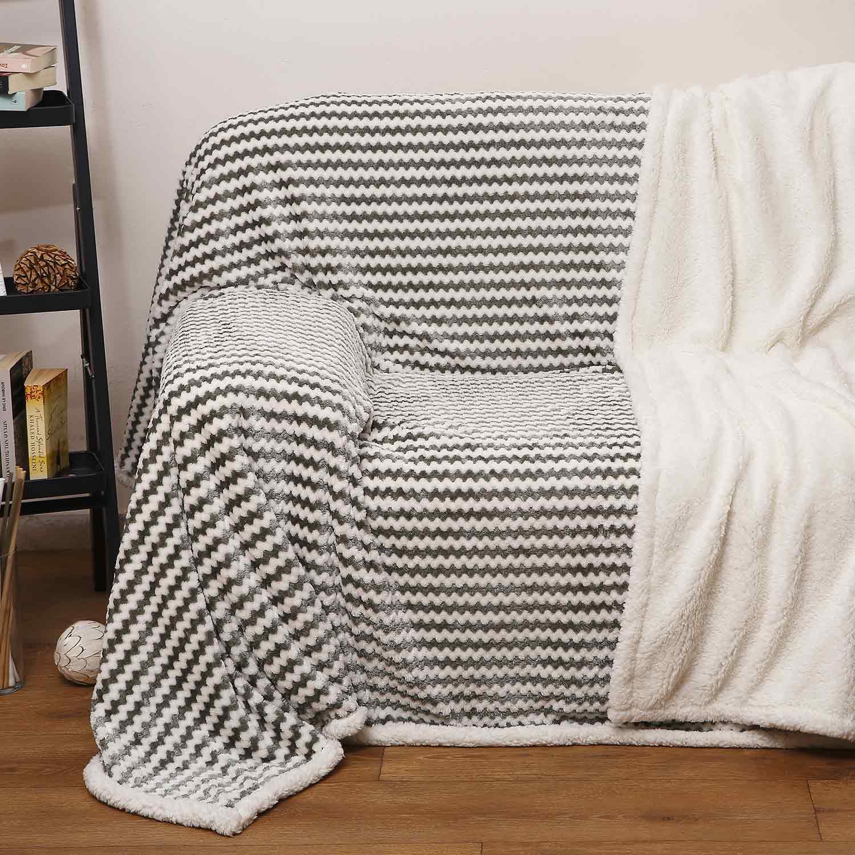 Ριχτάρι Δύο Όψεων 380 Beige – Olive Anna Riska Διθέσιο 180x230cm
