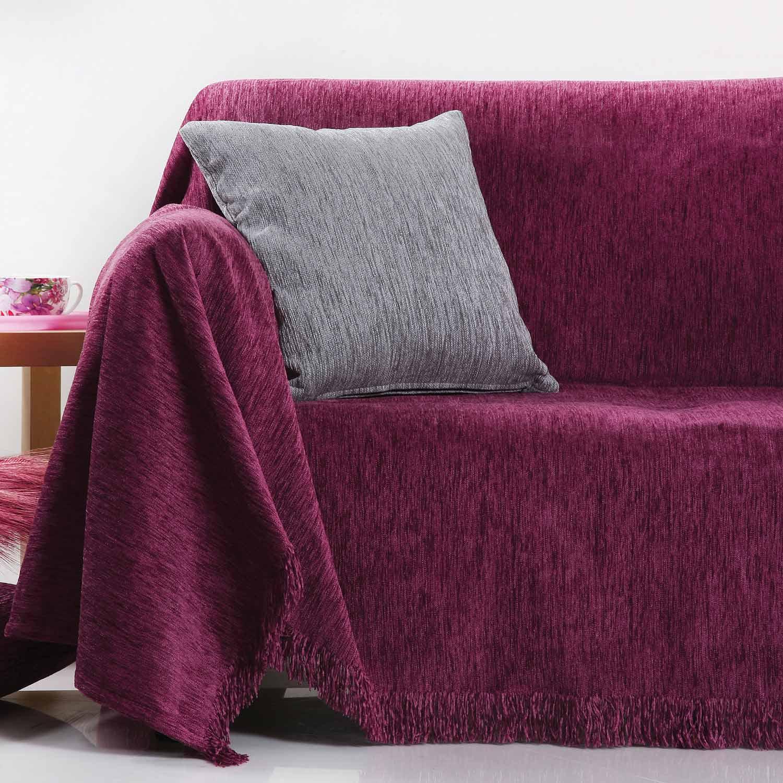 Ριχτάρι Ζακάρ Σενίλ 1300 Lilac Anna Riska Πολυθρόνα 180x150cm