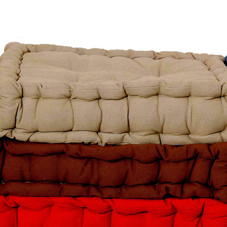 Μαξιλάρι Δαπέδου 581-14 Dark Brown Viopros 40Χ40 100% Βαμβάκι