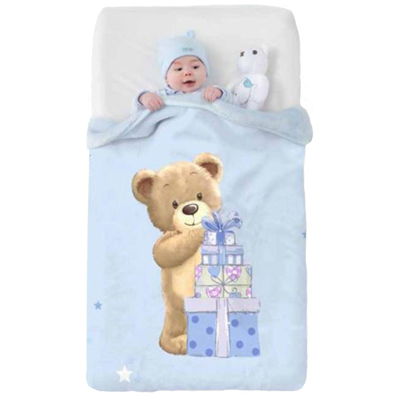 Κουβέρτα Βρεφική Baby VIP 521 c08 Ciel Manterol ΑΓΚΑΛΙΑΣ 75x100cm