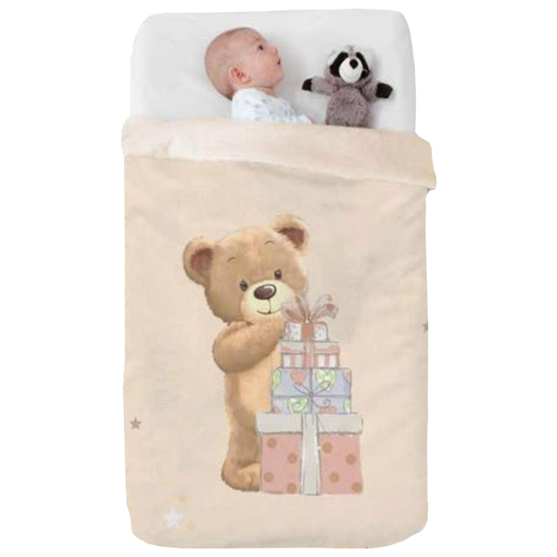 Κουβέρτα Βρεφική Baby VIP 521 c07 Beige Manterol Κούνιας 110x140cm